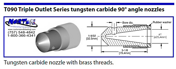 Angle Nozzle- 45 degree double outlet