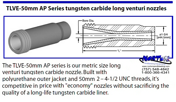 nozzle long venturi TLVE-AP 50mm