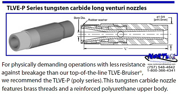Nozzle, Long Venturi TLVE-P