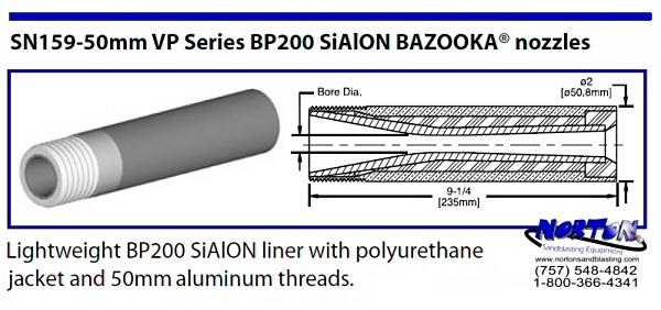 Bazooka Nozzle SiAION 50mm