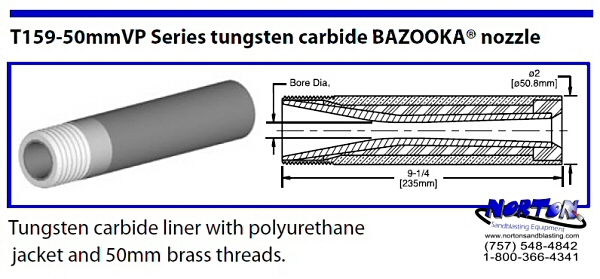 Bazooka Tungsten Carbide 50mm