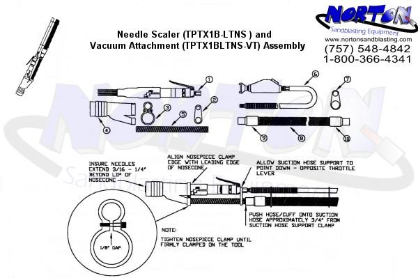 diagram of needle scaler vac kit